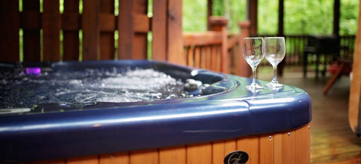 Hot tub header